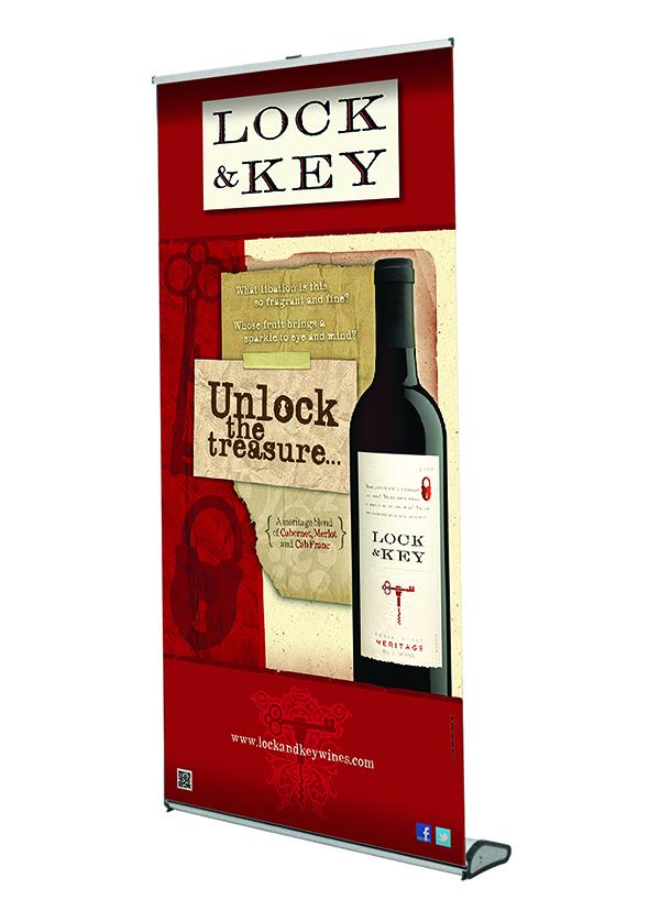 Lock & Key Retractable Display