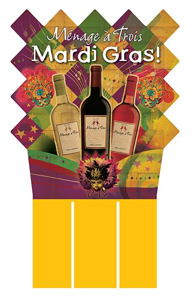 Ménage à Trois Mardi Gras Case Card