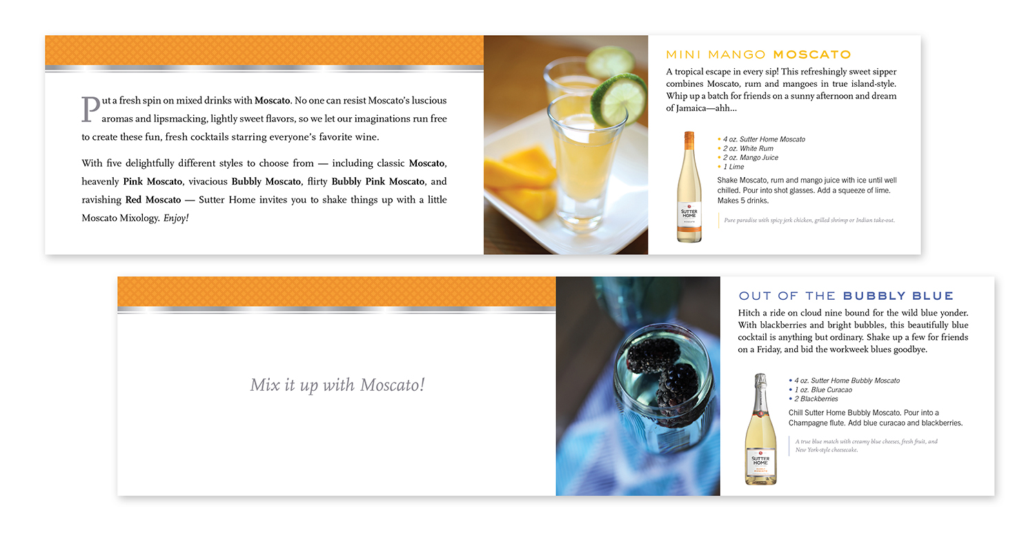 Sutter Home Moscato Mixology