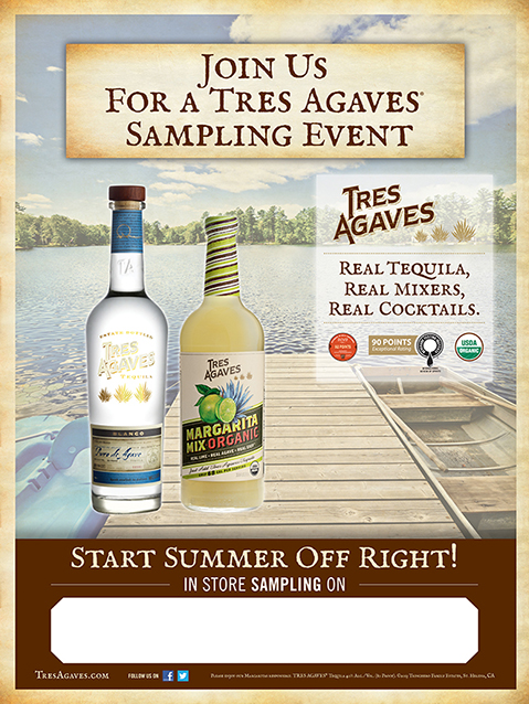 Tres Agaves Sampling Event Poster