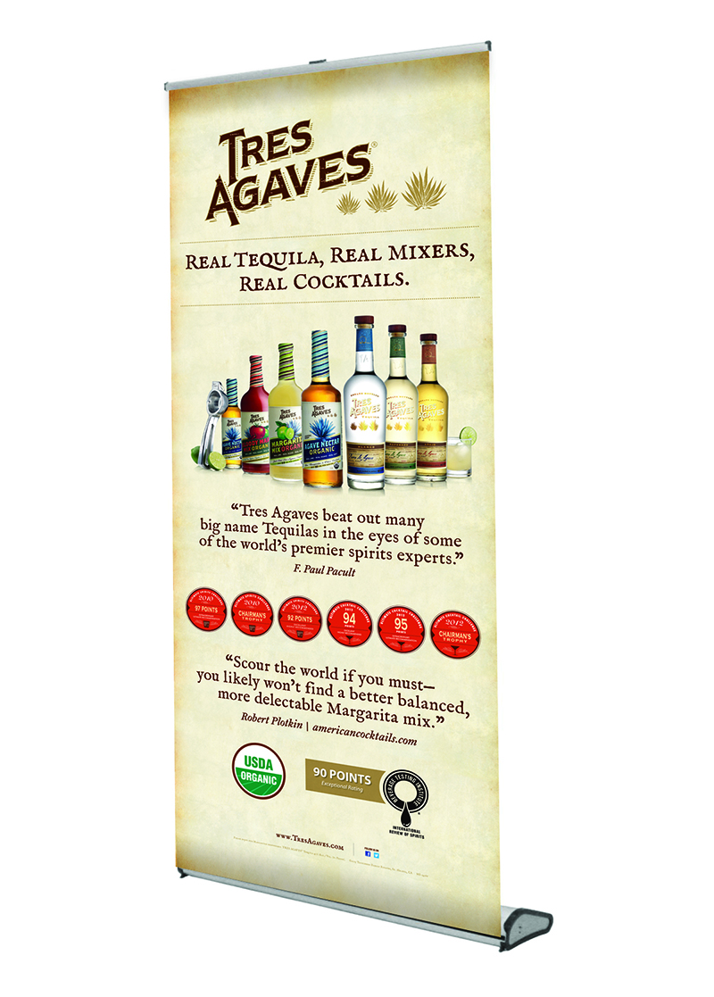 Tres Agaves Retractable Display