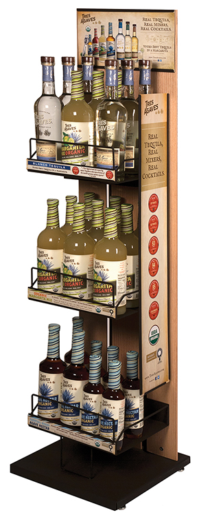 Tres Agaves Display Rack