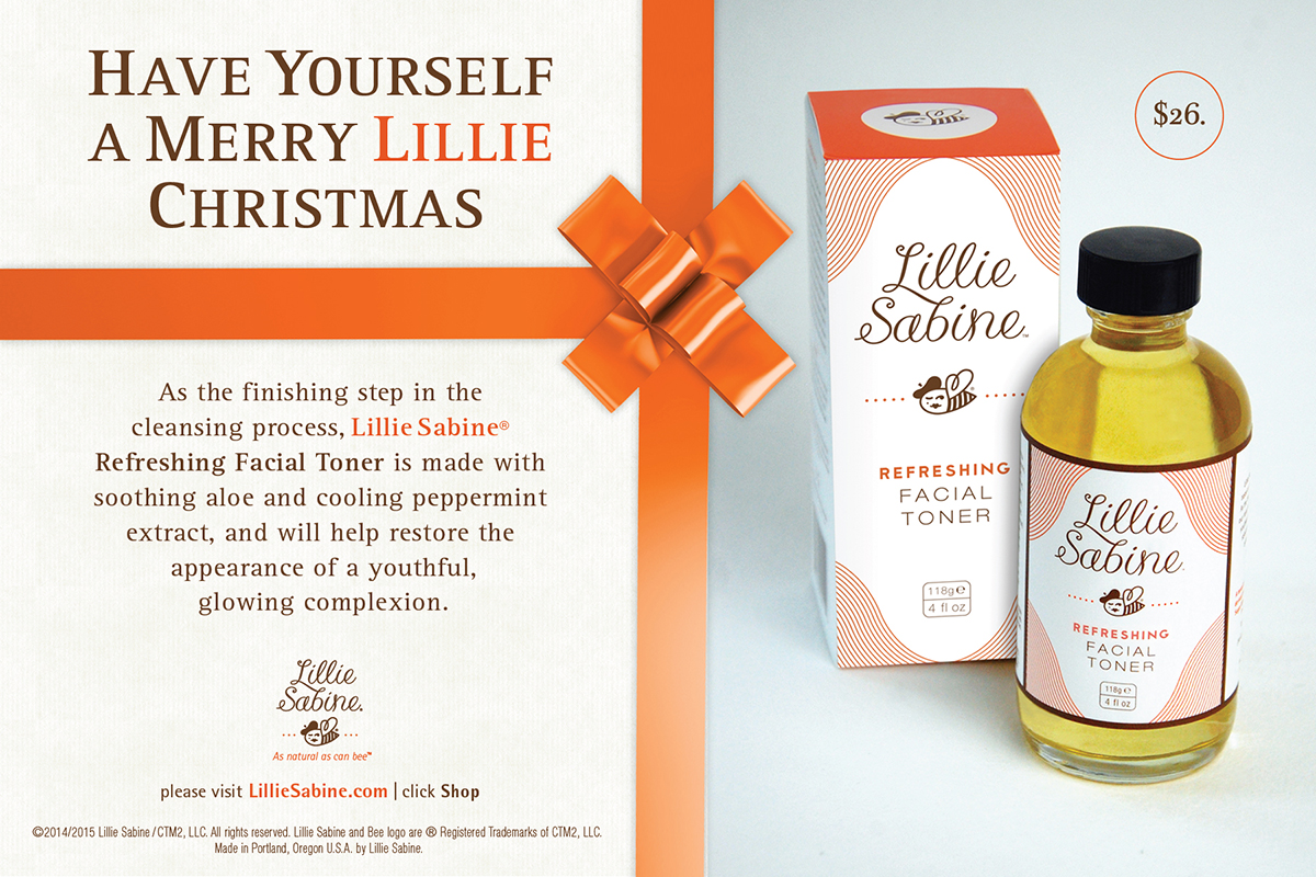 Lillie Sabine Holiday Promotion Postcard