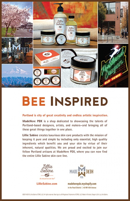 """Lillie Sabine """"Bee Inspired"""" Ad"""